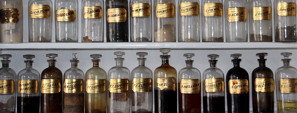 Medicine Bottles on a shelf