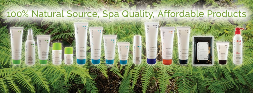 Chorus Supernatural Spa Quality skin care products